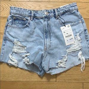 Brand New Zara Jean Shorts